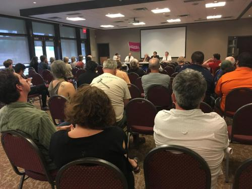 photo from all candidates meeting