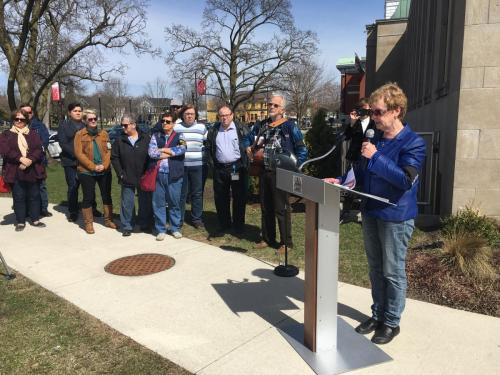Marion Burton begins the Day of Mourning ceremony