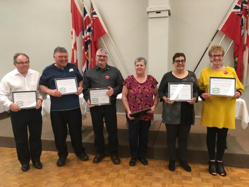 Years of service certificates