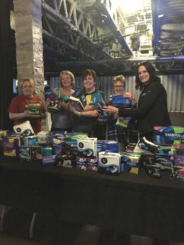 The ambassadors with the product