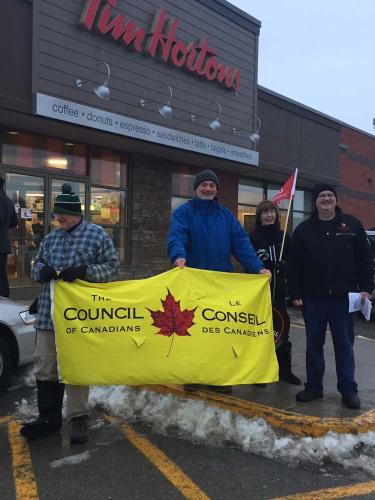 Community supports Tim Hortons workers