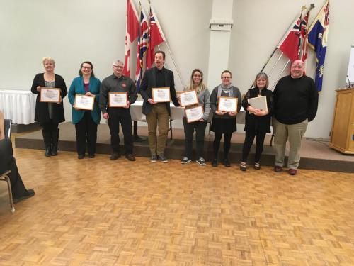United Way certificates of thanks to locals